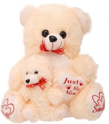 Kashish gift gallery Cream with Heart Baby Teddy Bear 45cm   18 inch Cream Kashish gift gallery Soft Toys
