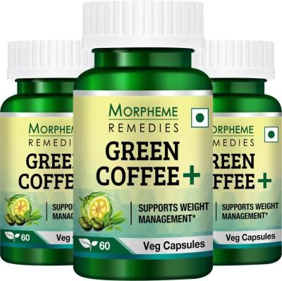 Morpheme Remedies Green Coffee+  Garcinia + Green Coffee + Green Tea   Pack Of 3  60 No Morpheme Remedies Vitamin Supplement