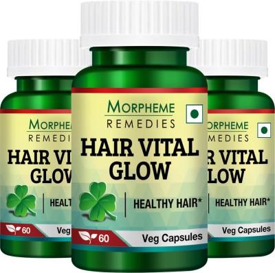 Morpheme Remedies Hair Vital Glow   For Hair Health  Pack of 3  180 No