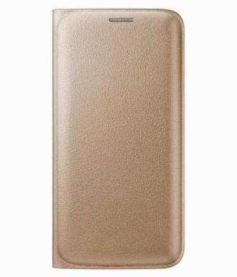 Spicesun Flip Cover for Mi Redmi 3S Prime Gold Spicesun Plain Cases   Covers