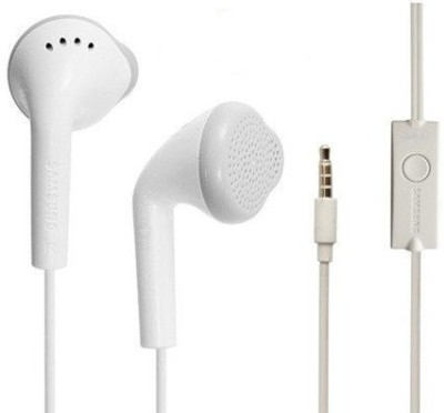 TopamTop In-Ear Earphone/Handsfree For Samsung J7 Prime,White Wired Headset with Mic(White, In the Ear)