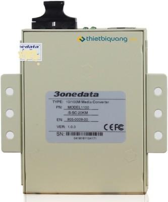 3Onedata Model-1100-S-SC-20Km Network Switch(White)