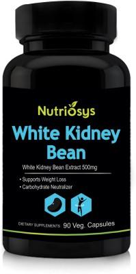 Nutriosys White Kidney Bean Extract   500mg,Veg Capsules 90 No