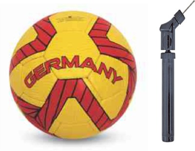 Nivia Germany Kross world Football With Air Pump Football   Size: 5 Pack of 2, Multicolor