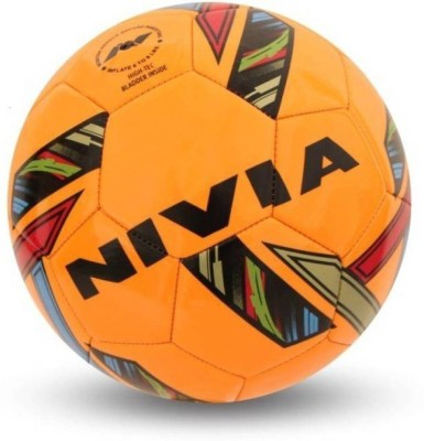 Nivia REVOLVO YELLOW FOOTBALL Football   Size: 5 Pack of 1, Multicolor  Nivia Footballs