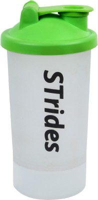 STrides Green Protein Shaker with Compartment , Gym Shaker   Pack of 1   600ml   600 ml Shaker Pack of 1, Green