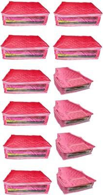 atorakushon Satin Combo of 8PC Saree Cover 4PC Blouse Cover S8S 4b Pink atorakushon Garment Covers