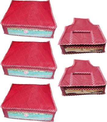 atorakushon Parachute Combo of 3PC Saree Cover 2PC Blouse Cover P3S 2b Maroon atorakushon Garment Covers