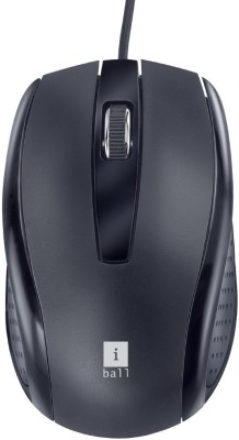 iBall Style 36 USB Wired Optical Mouse(USB 3.0, USB 2.0, Black)