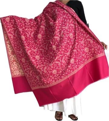 ase Cotton Blend Floral Print Women Shawl(Pink)