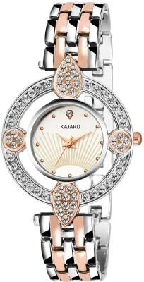 KAJARU LADIES-753 TWO TONE DIAMOND STUDDED FANCY Watch  - For Girls