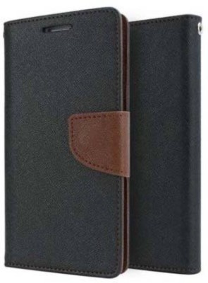 E TREE Flip Cover for Samsung Galaxy On7 Pro Brown