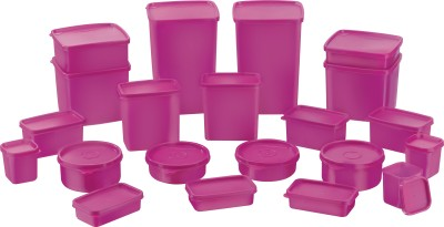 Mastercook Combo Packs  - 2000 ml, 1200 ml, 600 ml, 500 ml, 400 ml, 300 ml, 250 ml, 200 ml, 100 ml Polypropylene Grocery Container(Pack of 21, Purple)