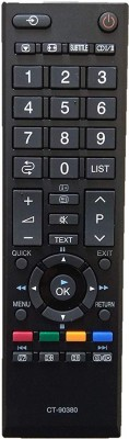 LipiWorld CT-90380 LCD LED TV Universal Remote Compatible with Toshiba LED LCD Remote Controller(Black)