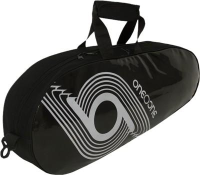 One O One Xhale Collection Single Black   White Badminton/Tennis Kit Bag Black, Kit Bag One O One Badminton Bag