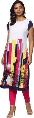 Billion Rang Nitya Printed Women Straight Kurta(Multicolor)