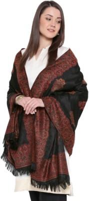 Weavers Villa Pashmina, Wool, Cashmere Woven Women's Shawl(Black)