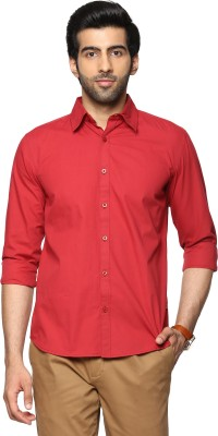 Billion PerfectFit Men Solid Casual Red Shirt at flipkart