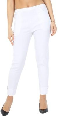 Vastraa Fusion Regular Fit Women White Trousers