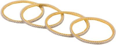 Chrishan Alloy Gold-plated Bangle Set(Pack of 4)