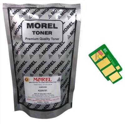 MOREL Morel 2200 Toner Powder and Toner Chip Compatible for Samsung k2200 / 707 Printer an Copier Single Color Ink Toner(Black)