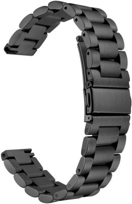 Higar Stainless Steel Strap for Huami Amazfit Bip (20mm) Smart Watch Strap(Black)