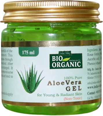 Indus Valley BIO Organic 100% Pure Aloe Vera Gel(175 ml)