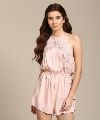 Forever 21 Embroidered Women Jumpsuit at flipkart