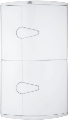 Wintex Icon Double Door Cabinet Polypropylene Wall Shelf(Number of Shelves - 2, White)