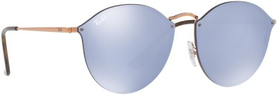 Ray-Ban Round Sunglasses(Silver) at flipkart