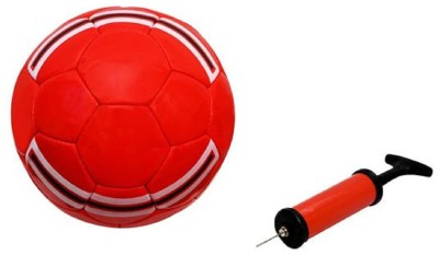 Aristo MUFC Red Football with Inflating Air Pump Football - Size: 5(Pack of 2, Multicolor)