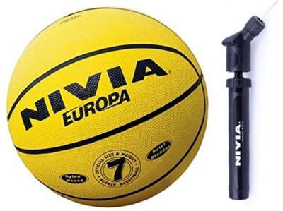 NIVIA Europa Basketball S 7 with Air Pump Basketball   Size: 7 Pack of 2, Multicolor NIVIA Basketballs