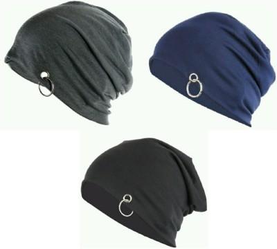 Sabhya Sakshi Solid Skull Cap(Pack of 3)