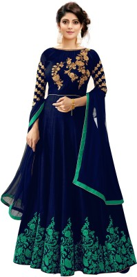 Trilok Fab Anarkali Gown(Multicolor)