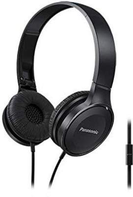 Panasonic RP-HF100MGCK/W (Black) Wired Headset with Mic(Black, Over the Ear)