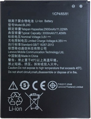 A Mobile Battery For Lenovo K3 Note K50-T5 BL243