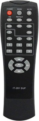 LipiWorld IT-281 SUF Home Theater System Remote Control Compatible for Home Theater INTEX Remote Controller(Black)