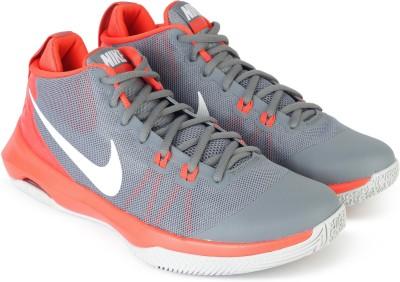 Nike AIR VERSITILE Basketball Shoe For Men(Grey, Orange) 1