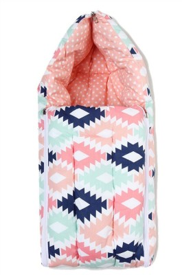 Miss & Chief Aztec Coral Mint Navy Reversible Baby Sleeping Bag Sleeping Bag(Multicolor)