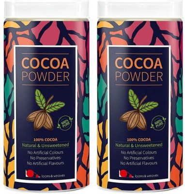 looms & weaves 100 % Pure & Natural Cocoa Powder from Kerala - 800 gm (Free Delivery) Cocoa Powder(800 g)