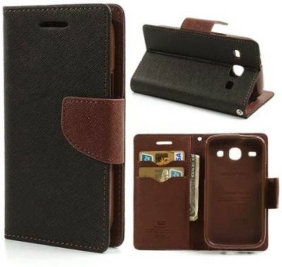 AUTOCASE Flip Cover for Samsung Galaxy Grand 2(Brown, Grip Case, Artificial Leather, Cloth, Rubber)