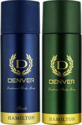Denver Hamilton and Pride Deo Combo (Pack of 2) Deodorant Spray  -  For Men(330 ml, Pack of 2)