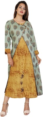 Yuvna Festive & Party Embroidered Women Kurti(Multicolor)