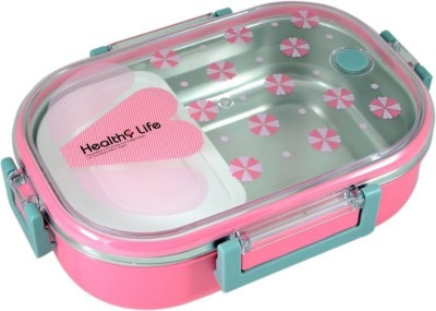 Menzy Healthy Diet Mid Day Meal Carry Double Walled Insulated Hot Lunch Box or Tiffin Box For School College & Office Kids Boys Girls Men Women 1 Containers Lunch Box(710 ml)