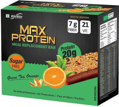 RiteBite MaxProtein Protein Bars(20 g, Green Tea Orange)