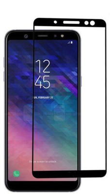 CHVTS Tempered Glass Guard for Samsung Galaxy A6 ,5D Glass, Full Glue, Black(Pack of 1)