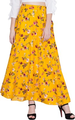 Slenor Printed Women Straight Multicolor Skirt