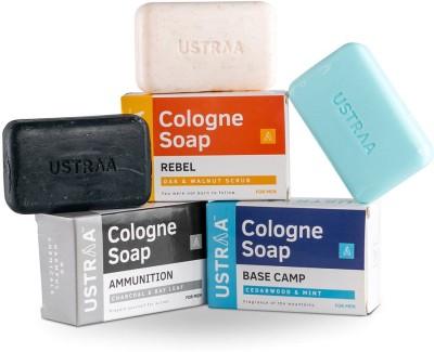 Ustraa Ammunition, Base Camp & Rebel Cologne Soap(375 g, Pack of 3)