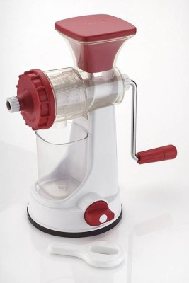 Radhey Ganesh Plastic Hand Juicer Vegetable & Fruit Juicer New(Red, White Pack of 1)