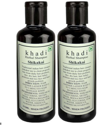 Khadi Herbal SHIKAKAI SHAMPOO 210X2(420 ml) Flipkart